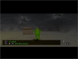 In game image of The Grinch on the Sony Playstation.