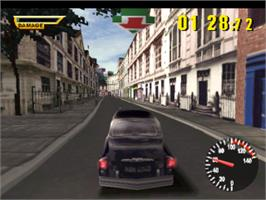 In game image of The Italian Job on the Sony Playstation.