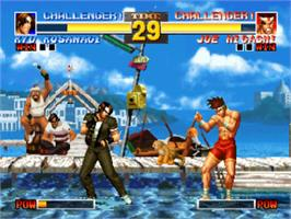 In game image of The King of Fighters '95 on the Sony Playstation.