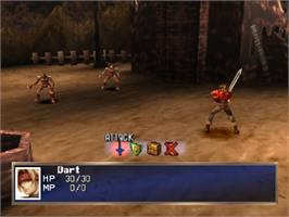 In game image of The Legend of Dragoon on the Sony Playstation.