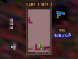 In game image of The Next Tetris on the Sony Playstation.