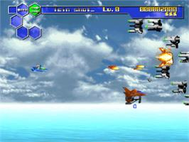 In game image of Thunder Force V: Perfect System on the Sony Playstation.
