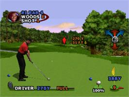 In game image of Tiger Woods PGA Tour 2000 on the Sony Playstation.