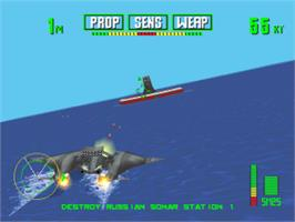 In game image of Tigershark on the Sony Playstation.