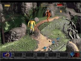 In game image of Time Commando on the Sony Playstation.