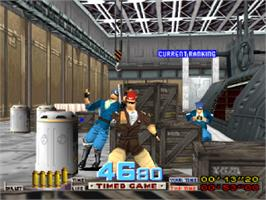 In game image of Time Crisis on the Sony Playstation.
