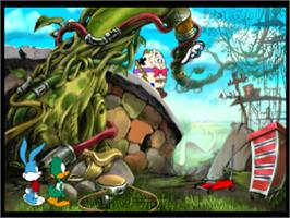 In game image of Tiny Toon Adventures: The Great Beanstalk on the Sony Playstation.