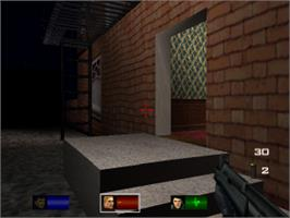 In game image of Tom Clancy's Rainbow Six: Rogue Spear on the Sony Playstation.