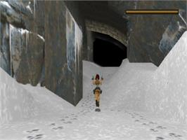 In game image of Tomb Raider: The Last Revelation on the Sony Playstation.