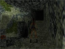 In game image of Tomb Raider II on the Sony Playstation.
