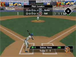 In game image of Triple Play 2000 on the Sony Playstation.