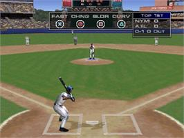In game image of Triple Play 2001 on the Sony Playstation.