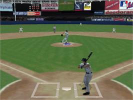 In game image of Triple Play Baseball on the Sony Playstation.