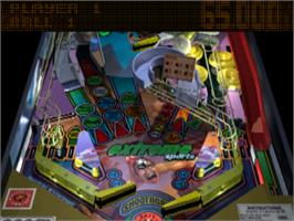 In game image of True Pinball on the Sony Playstation.