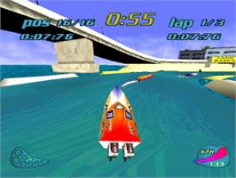 In game image of Turbo Prop Racing on the Sony Playstation.