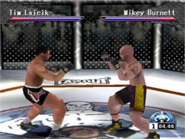 In game image of Ultimate Fighting Championship on the Sony Playstation.