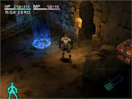 In game image of Vagrant Story on the Sony Playstation.