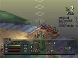 In game image of Vandal Hearts II on the Sony Playstation.