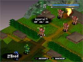 In game image of Vanguard Bandits on the Sony Playstation.