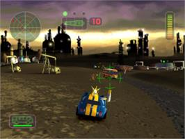 In game image of Vigilante 8: 2nd Offense on the Sony Playstation.