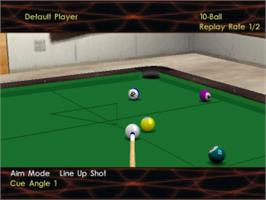 In game image of Virtual Pool 3 on the Sony Playstation.