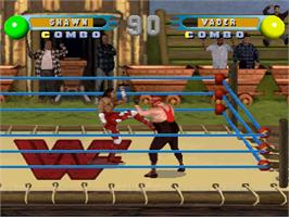 In game image of WWF in Your House on the Sony Playstation.