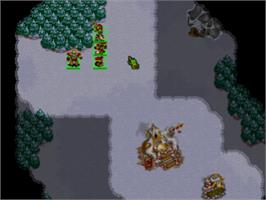 In game image of Warcraft II: The Dark Saga on the Sony Playstation.