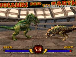 In game image of Warpath: Jurassic Park on the Sony Playstation.