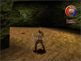 In game image of Warriors of Might and Magic on the Sony Playstation.