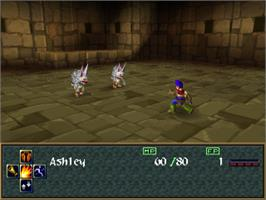 In game image of Wild Arms 2 on the Sony Playstation.