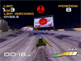 In game image of Wipeout on the Sony Playstation.