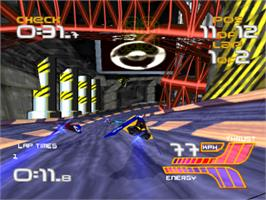 In game image of Wipeout XL on the Sony Playstation.