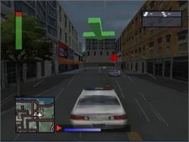 In game image of World's Scariest Police Chases on the Sony Playstation.