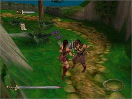 In game image of Xena: Warrior Princess on the Sony Playstation.