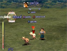 In game image of Xenogears on the Sony Playstation.