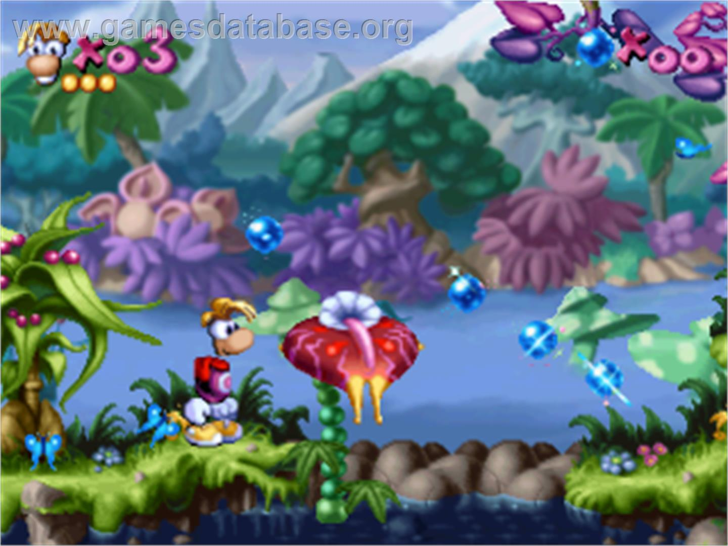 Rayman Rayman 2 The Great Escape Sony Playstation Artwork In Game