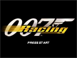Title screen of 007: Racing on the Sony Playstation.