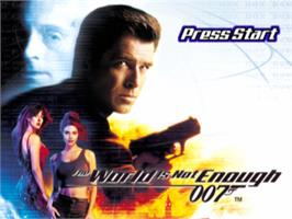 Title screen of 007: The World is Not Enough on the Sony Playstation.