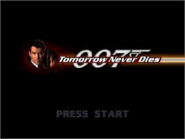 Title screen of 007: Tomorrow Never Dies on the Sony Playstation.