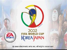 Title screen of 2002 FIFA World Cup on the Sony Playstation.