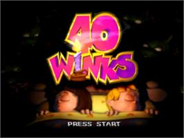 Title screen of 40 Winks on the Sony Playstation.