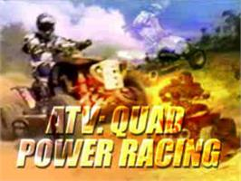 Title screen of ATV: Quad Power Racing on the Sony Playstation.