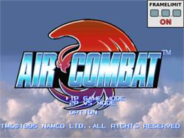 Title screen of Air Combat on the Sony Playstation.