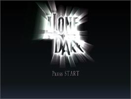 Title screen of Alone in the Dark: The New Nightmare on the Sony Playstation.