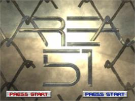 Title screen of Area 51 on the Sony Playstation.