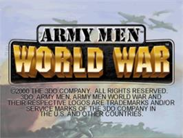 Title screen of Army Men: World War on the Sony Playstation.