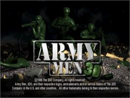 Title screen of Army Men 3D on the Sony Playstation.