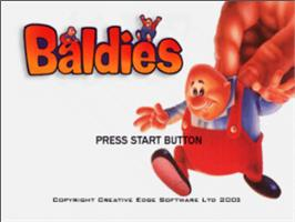 Title screen of Baldies on the Sony Playstation.