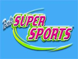 Title screen of Barbie: Super Sports on the Sony Playstation.