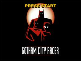 Title screen of Batman: Gotham City Racer on the Sony Playstation.